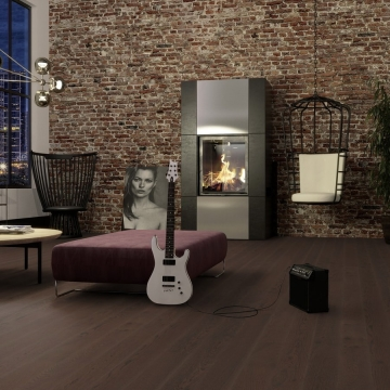 Паркетная доска BOEN 138mm Planks Дуб Brazilian Brown Live Pure